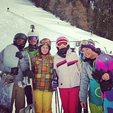 snowboard amiche cavalese neve snow