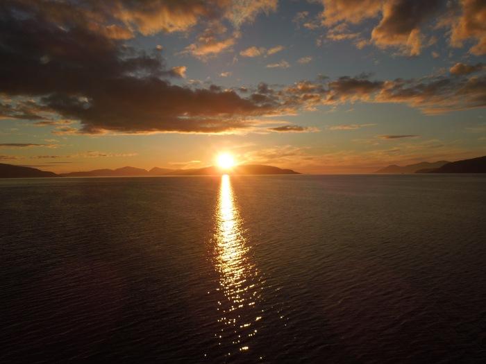 NORWAY, SUNSET,